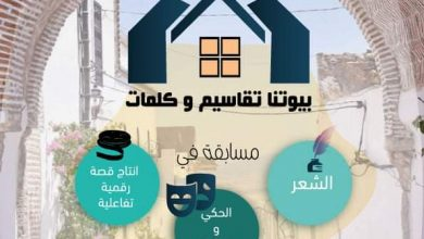 "Photo of زغوان:تظاهرة""بيوتنا تقاسيم وكلمات"""